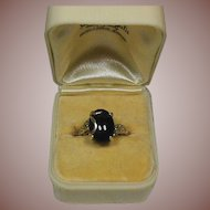 """Onyx and 10 Carat Gold Dress Ring- Circa 1940-60""""s Vintage"""