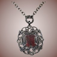 Sterling Silver/9 CT Gold- English Trophy-Fob-Charm -Pendant Hallmarked 1912/Double sided