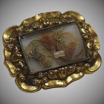 English GF Victorian (1837-1901) Petite Mourning Brooch