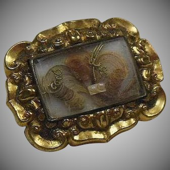 English GF Victorian (1837-1901) Petite Mourning Brooch