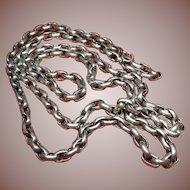 Antique English Sterling Silver(.925/1000) Belcher Neck Chain Ca. 1890-1915