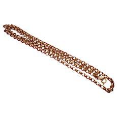 """Antique English  9 Carat Gold (.375) Belcher Neck Chain 25""""-23 Gram"""