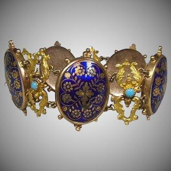 Antique Victorian Enamel Bracelet