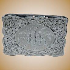 Sterling Silver(.925) Antique English Pill Box-HM 1896
