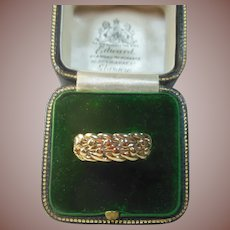English 9 Carat/Karat Gold Keepers Ring
