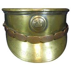WWI Brass Model(Trent Art) of an Officers Cap, Circa 1918