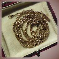Antique Edwardian 9 ct Gold Belcher Neck Chain