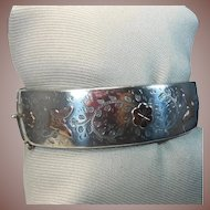 English Vintage Sterling Silver Bangle Bracelet