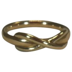 18 Kt Gold .750 Tiffany & Co. Crossover Band Ring