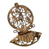 Victorian Watch Verge Pendant/ Brooch