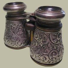 Sterlng Silver Cased Opera Glasses HM 1901