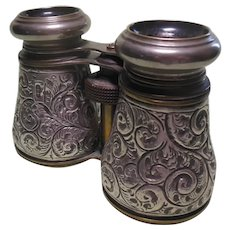 Sterlng Silver Cased Opera Glasses HM 1901
