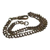Edwardian 9 Kt Rose Gold Albert Chain/Bracelet/ Extention