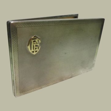 Sterling Silver & 9 Kt Gold Cigarette Case