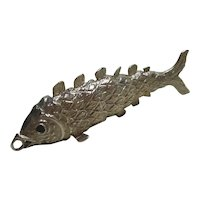 English Sterling Silver Articulated Fish Pendant