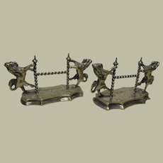 Pair of Silver Plate Lion Rampant Knife Rests