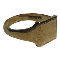 9 Kt Gold Signet Ring English HM