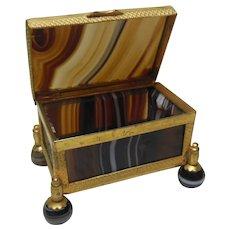 Antique Banded Agate Trinket Casket