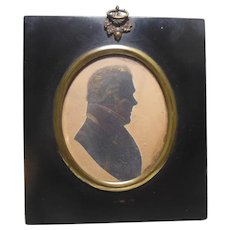 Early 19Th Century Cut Silhouette Miniature of Gentleman