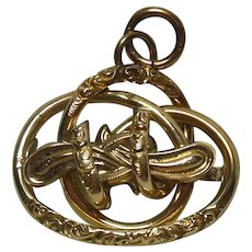 Lovely Antique Gold-Filled Love-Knot Pendant