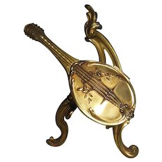 French Depose Vanity Casket Modeled as a Mandolin