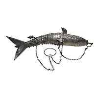 Articulated Silver Metal Fish Chatelaine