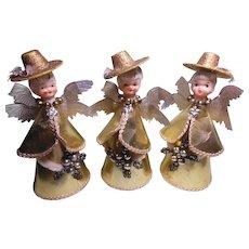 Vintage 1950's Christmas Angels Trio