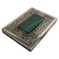 Sterling Silver Plique a Jour & Guilloche Enamel Case/Box