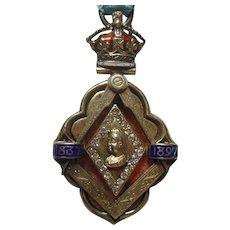 Queen Victoria Commemorative Metal in Case