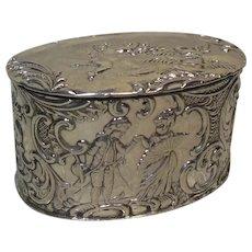 Antique Sterling Silver Trinket/Pill/Keepsake Box