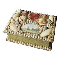 Antique Shell Decorated Keepsake Box/Sailor Valentine