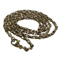 Edwardian 9 Kt Gold Fancy Link Neck Chain
