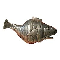 Sterling Silver Articulated Fish Container-HM