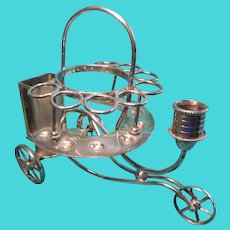 Victorian Novelty Silver Plate Table Cigar Caddy