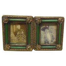 Antique Petite Double Exposure Picture Frame