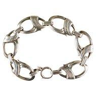 Vintage Modernist Signed H S Bick Denmark Sterling Silver Bracelet
