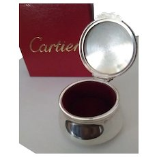 Vintage Cartier Sterling Silver Jewel Box