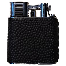 Dunhill Sports Petrol Lighter Globetrotter Leather Rhodium Plated Original Box