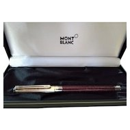 Montblanc Noblesse Oblige Red Marble Fountain Pen 18k Nib in Original Box