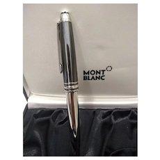 Montblanc Meisterstuck Doue Hematite Classique Steel 18k Nib Fountain Pen (M)