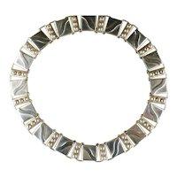 Vintage Hector Aguilar 940 Silver Lyre Necklace