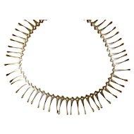 Vintage Modernist Sterling Fringe Necklace