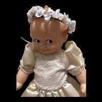 Delightful 15 inch vintage Kewpie Doll in Bride's Dress