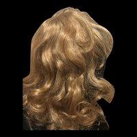 Human hair wig-size 16- golden honey blond