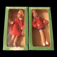 """Fantastic 3"""" German Doll House Dolls"""
