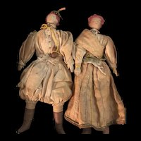 Lovely pair of very early 8 Inch Ethnic Dolls
