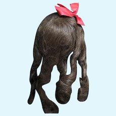"""""""Rare Find"""" Original Antique Jumeau Human Hair Wig-"""