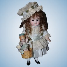 "7 "" SWC All Bisque with Her Dolly"
