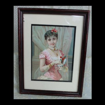 Framed Victorian Picture for Fashion Doll Display