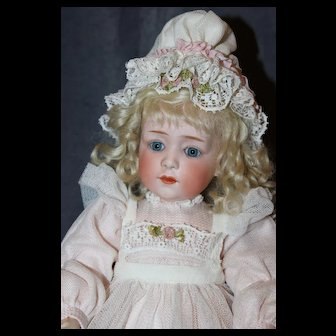 15 1/2 Inch Gebruder Heubach Glass Eyed Character Child